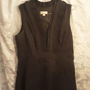Merona black ruffle collar dress size 10